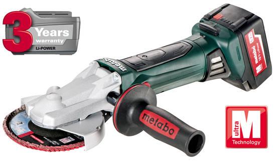 Metabo WF 18 LTX 125 Akkus laposfejű sarokcsiszoló