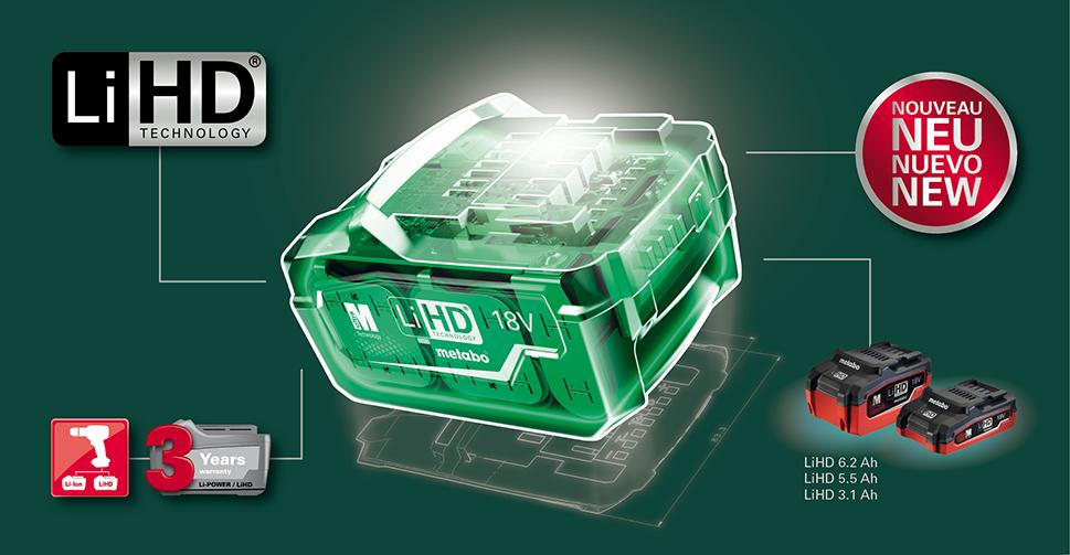 Metabo LiHD akkumulátorok