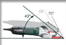 Metabo WEF 9-125 laposfejű sarokcsiszoló-kialakitás