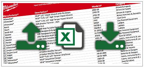 Milwaukee One-Key adatok exportálása Excelbe
