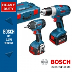 Bosch GSR 14,4 V-LI Professional fúró-csavarbehajtó + GDR 14,4-LI Professional Ütve-csavarbehajtó
