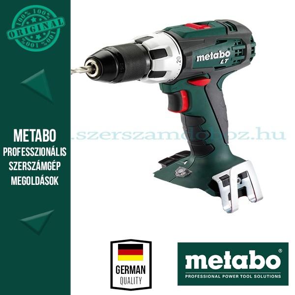Metabo BS 18 LT Akkus fúró-csavarbehajtó (alapgép)