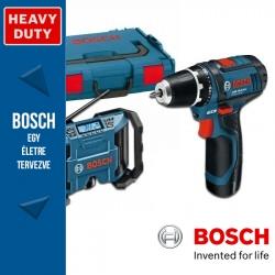 Bosch GML 10,8 V-LI Professional rádió + GSR 10,8-2-LI Professional Fúró-csavarbehajtó