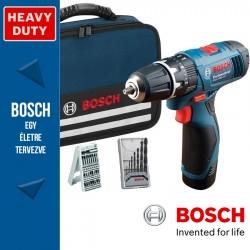Bosch GSB 1080-2-Li Professional Akkus Ütvefúró-csavarbehajtó tartozékokkal