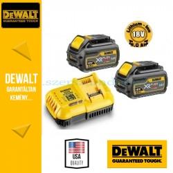 DeWALT DCB118T2-QW XR és FLEXVOLT 18/54V gyorstöltő szettben