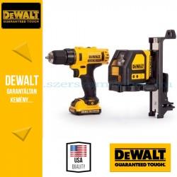 DeWalt DCK215D2T-QW 10.8V-os fúró-csavarbehajtó + keresztlézer