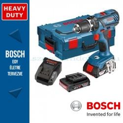 Bosch GSB 18-2-LI Plus Akkus ütvefúró-csavarbehajtó (2x4,0Ah - L-BOXX)