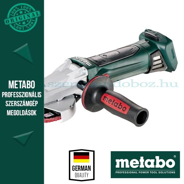 Metabo WF 18 LTX 125 Akkus sarokcsiszoló Quick Alapgép