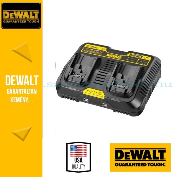 1a48e36ce1d4 DeWalt DCB102-QW kétállású USB akkumulátor töltő 18V-os XR Li-Ion