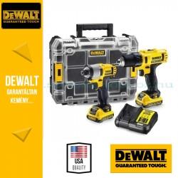 DeWalt DCK211C2T-QW Akkus fúró-csavarozó+ütvecsavarozó szett 10.8V, 1.3Ah