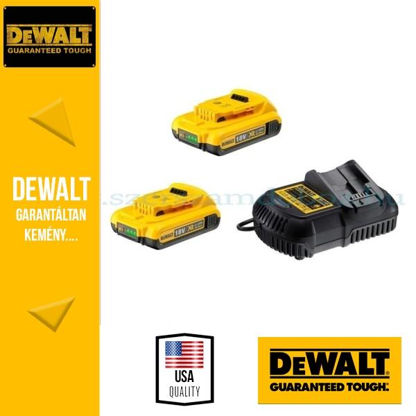 b3b0ba3b0c6a DeWalt DCB105D2-QW 18V 2x2,0 Ah akku és töltő