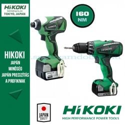 Hitachi (HiKOKI) WH14DBEL + DS14DBEL Szénkefementes akkus szett