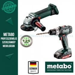 Metabo BS 18 L + W 18 LTX 125 Quick Akkus szett