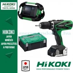 Hitachi (HiKOKI) DS18DSFL Akkus fúró-csavarozó + UR18DSDL Rádió