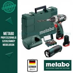 Metabo Powermaxx BS Basic fúrócsavarozó + akkus zseblámpa (Powermaxx TLA LED) + bitkészlet (SP)