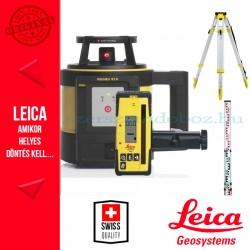 Leica Rugby 810 Forgólézer (elemes) + CTP104 aluminium műszerállvány + CLR 102 5m teleszkópos szintezőléc