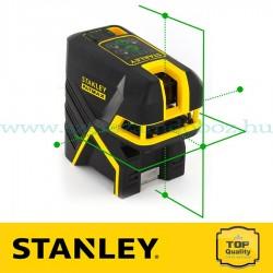 Stanley FatMax kereszt + 5 pont lézer - zöld
