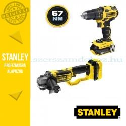 Stanley FatMax 18V-os Kefe nélküli Ütvefúró-csavarozó + Sarokcsiszoló