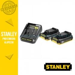 Stanley 2db Akkumulátor 2Ah és töltő