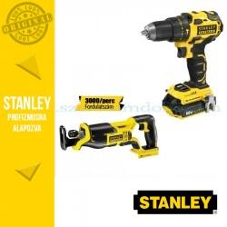 Stanley FatMax 18V-os Kefe nélküli Ütvefúró-csavarozó + Orrfűrész