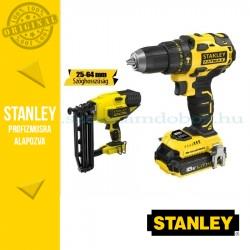 Stanley FatMax 18V-os Kefe nélküli Ütvefúró-csavarozó + Szögező