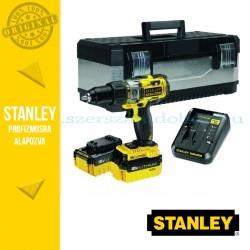 Stanley FatMax 18V-os Kétsebességes Ütvefúró-csavarozó + Fém koffer + 2x4.0Ah akku