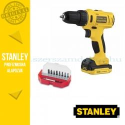 Stanley FatMax 10,8V-os Fúró/csavarozó + Behajtóhegy készlet