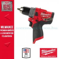 Milwaukee M12 FDD-0 - Szénkefe nélküli akkumulátoros fúrócsavarozó - alapgép