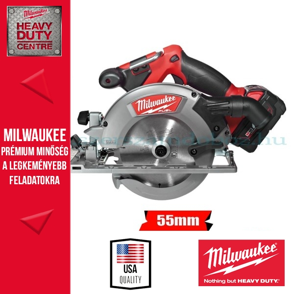 Milwaukee M18 CCS55-402C Akkus körfűrész