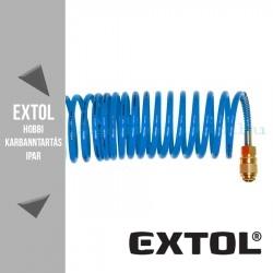 Extol Légtömlő spirál kompresszorhoz 15m - 15bar – 6mm