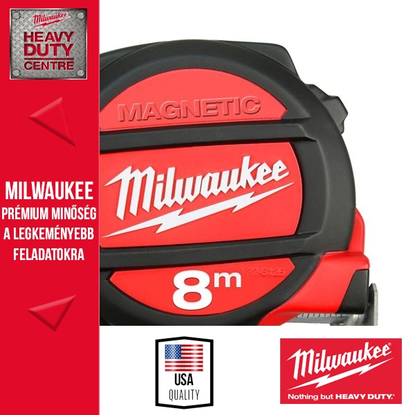 Milwaukee Mágneses mérőszalag 8M