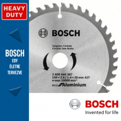 Bosch ECO körfűrészlap aluminiumhoz 160mm 42fog
