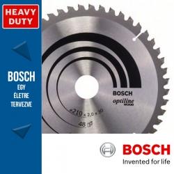 Bosch Körfűrészlap, Optiline Wood minden fafajtához 210mm 48fog