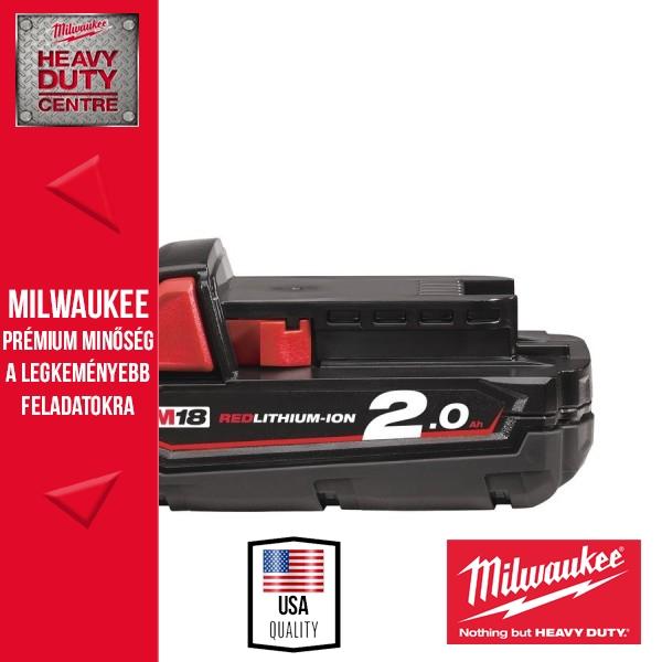 Milwaukee M18 B2 18V 2,0Ah Li-Ion akkumulátor