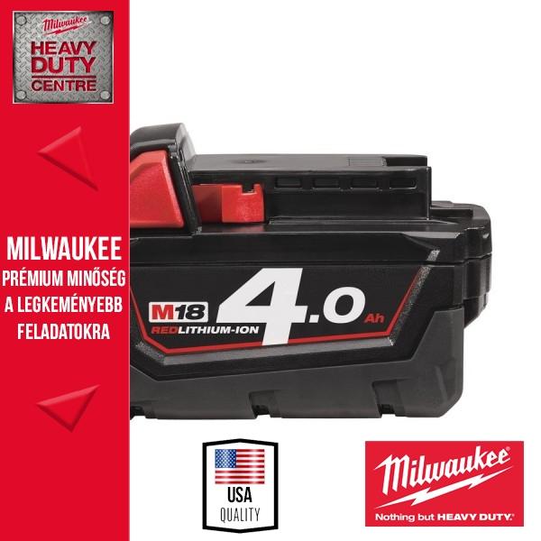 Milwaukee M18 B4 18V 4,0Ah Li-Ion akkumulátor