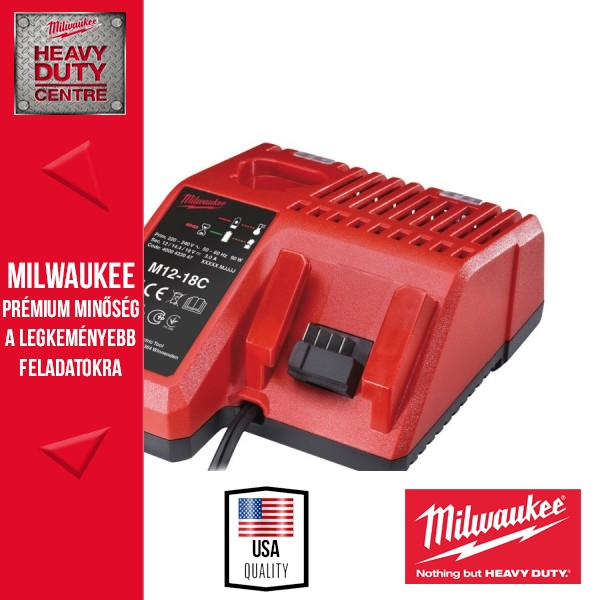 Milwaukee M12-18C Intelligens töltő