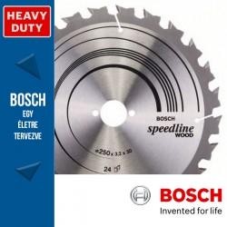 Bosch Körfűrészlap, Speedline Wood fához hosszanti- és harántvágásához 210mm 30fog