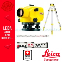 Leica Jogger 28 optikai szintezőműszer csomag szintezőléc+állvány