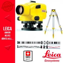 Leica Jogger 32 optikai szintező + CTP104 állvány + CLR101 szintezőléc