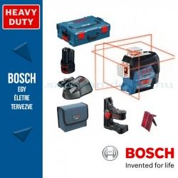 Bosch GLL 3-80 C Professional vonallézer + LR6 vevőegység + BM1 tartó + Koffer