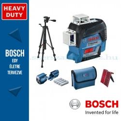 Bosch GLL 3-80 C Professional vonallézer + LR6 vevőegység + BT 150 állvány