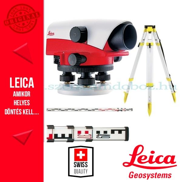 Leica NA724 optikai szintezőműszer csomag (szintezőléc+állvány)