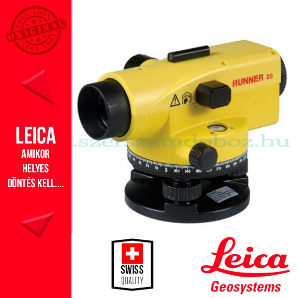 Leica Runner 20 optikai szintezőműszer