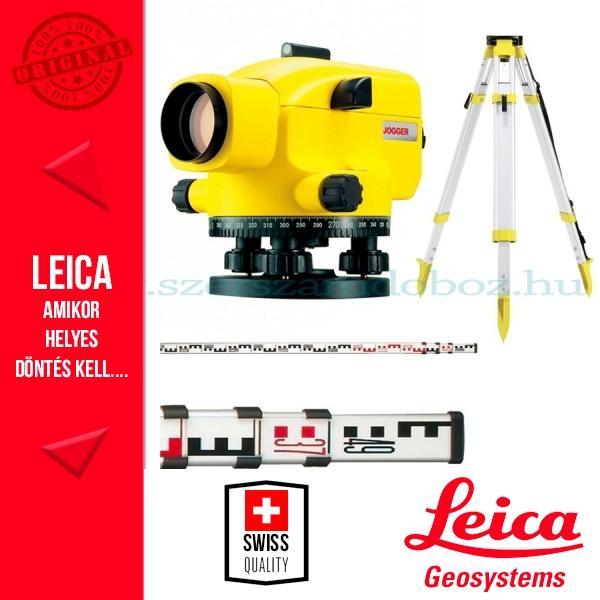 Leica Jogger 28 optikai szintező + CTP104 állvány + CLR101 szintezőléc