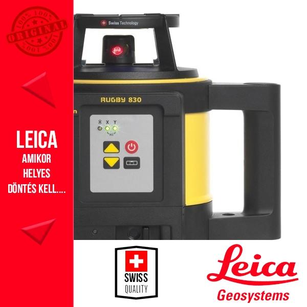 Leica Rugby 830 Építőipari forgólézer (elemes)