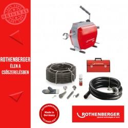 ROTHENBERGER R600 csőtisztító gép + 22 mm-es spirálkészlet