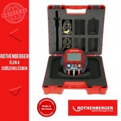 ROTHENBERGER 600 digitális csaptelep készlet + 2 hőmérő csiptetővel + kofferral