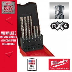 Milwaukee SDS-Plus 4-élű 7db-os fúrókészlet