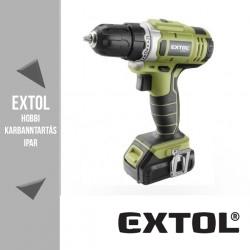 EXTOL CRAFT akkus fúró csavarozó 12 V, 18 Nm – 402400