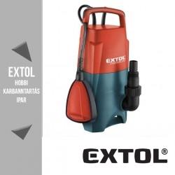 EXTOL PREMIUM szennyvíz búvárszivattyú úszókapcsolóval, 400 W, 133 liter/perc – 8895006